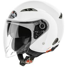 Helm Jet Airoh City One Color Weiss Glanzed