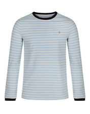 Farah Men's Ally Long Sleeve Slim Fit T-Shirt - Pale Blue