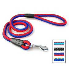 Nylon Dog Leads Clip Braided Rope Pet Walking Leash for Medium Large Dogs 120cm