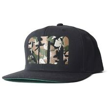 AM AFTERMIDNIGHT NYC WOODLAND CAMO EMBROIDERED 6 PANEL CAP BLK ONE SIZE FITS ALL