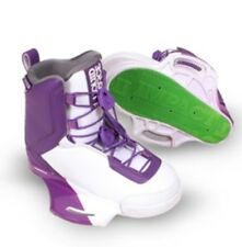 liquid force TEAM closed toe wakeboard bindings wakeboard boots white purple NEW