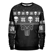 THE PUNISHER - Felpa Uomo Marvel Comics Fumetto Comics Natale T-Shirt