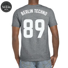 Techno Tshirt Berlin Techno Rave minimal numbers Print Dj Tshirt Techno Music
