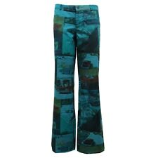 8419U pantalone donna CUSTO BARCELONA green pant trouser woman