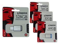 KINGSTON Pendrive USB 3.1 3.0 2.0 16 32 64 128 GB 16GB 32GB 64GB 128GB DT50