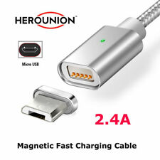 2.4A Magnetic Micro USB Fast Data Charging Cable For Samsung A3 A5 A7 Android