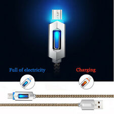 LED Light Visible Micro USB Charger Data Sync Cable Cord For Samsung Galaxy Lot