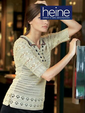 NEU HIGHLIGHT CROCHET MUSTERSTRICK POLO PULLOVER LUXUS-QUALITÄT 40 HEINE *131931