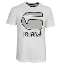 G-STAR RAW T chemise col rond blanc coupe décontractée Relax SCOOP d03418 336