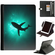 Shark Leather Tablet Case 360 swivel cover for Apple ipad Pro 11, 12.9, 9.7....