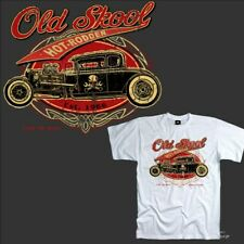 AUTO SPORTIVA ROCKABILLY SPEED D'EPOCA NEGOZIO Kustom GARAGE Shop T-Shirt 1277
