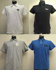Abercrombie and Fitch Men's Muscle Fit Polo T-shirt - Blue, White, Black, Grey.