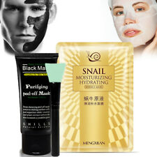 Ultimate Purifying Activated Charcoal Carbon Face Mask + Brush + Snail Face Mask