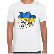MADE IN UCRAINA - BANDIERA E MAPPA - UOMO TSHIRT - Country,regalo,Maglietta