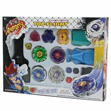 Metal Master Fusion Top Rapidity Fight Rare Beyblade 4D Launcher Grip Set LOT VG