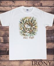 Men's White T-Shirt 'Stay high' Cannabis Khalifa Prosto Medical Marijuana TS1158