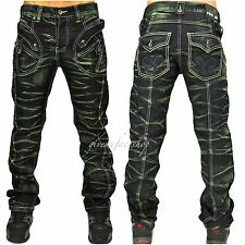peviani Bar Jeans, Hip Hop Time Is Money Urban Herren, Zoll star-rock Denim Grün