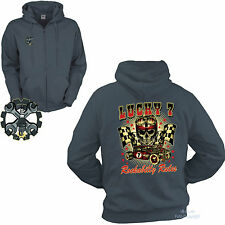 Giacca con zip ROCKABILLY AUTO SPORTIVA Kustom Speed Shop AUTO sweat-Shirt