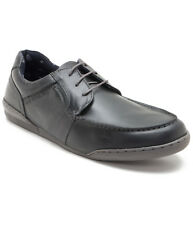 Red Tape Men's Leather Lace Up Tpr Sole Round Tip Black Casual Shoes (RTR1351)