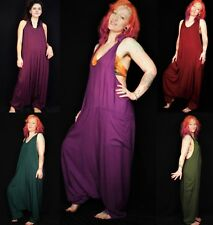 Harem Dungarees Hippie Bohemian Baggy Plain Jumpsuit - Brand New by Bare Canvas