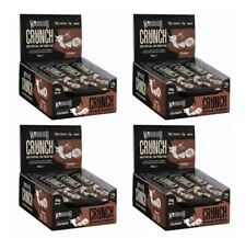 Warrior Crunch High Protein Bars Low Carb x 12 Per Box Choco Coconut x 4 Boxes