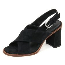 E0140 (WITHOUT BOX) sandalo donna nero WINDSOR SMITH scarpe suede shoe woman