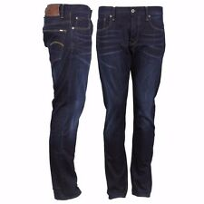 G-STAR Jeans 3301 Tapered Fit scuro invecchiato Blu stone washed 51003 6576 89