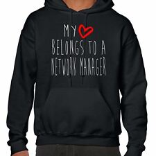 My Heart Belongs To A Network Manager Hoodie