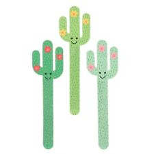 Sass & Belle Nail Files X 3 Colourful Cactus Emery Board Gift Novelty