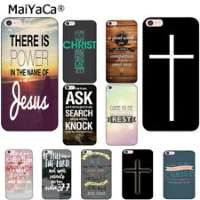 Jesus Christ Christian Cross Phone Case for iPhone 6s X 8 7 6 Plus 5 5S SE 4S ..