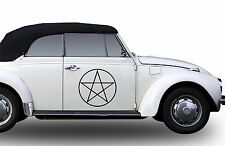 Pentagram Adhesive Car Sticker White Hand Star Colour choice 40 cm PROTECTION