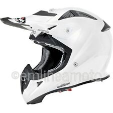 Casco Integrale Off-Road Airoh Aviator Junior Color Bianco Lucido