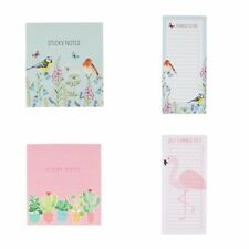 Sass & Belle Magnetic Notepad, Sticky Note Set Memo Notelets Birds Cactus Gift