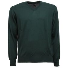 1854V maglione uomo DALMINE 1952 lana merinos verde green wool sweater men