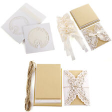 10pcs Wedding Party Invitations Cards with Laser Cut Floral and Love Birds