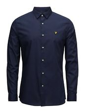 LYLE & SCOTT SLIM FIT POPLIN L/S SHIRT NAVY, NEW! MOD-CASUAL-SKINHEAD-VINTAGE