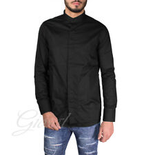 Camicia Uomo Casual Mod Slim Bottoni Colletto Tasche Nera Casual GIOSAL