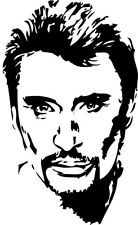 Sticker Autocollant JOHNNY HALLYDAY PORTRAIT - couleur au choix