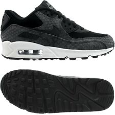 Nike Air Max 90 PRM women's low-top sneakers black/grey suede/smooth leather NEW