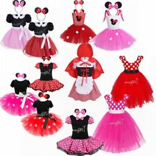Summer Toddler Girls Kids Dress Princess Baby Minnie Mouse Party Dresses Clothes
