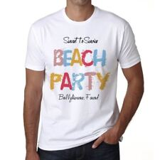 Ballyhiernan Fanad Beach Party Hombre Camiseta Blanco 00279