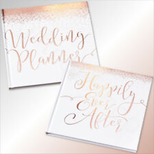 Rose Gold White Wedding Planner & Guest Book Sign Vintage Wedding Party Supplies