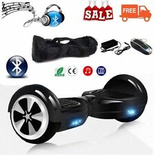 """NUOVO NERO HOVERBOARD 6,5"""" LUCI LED SPEAKER E BLUETOOTH OVERBOARD+bag KY"""
