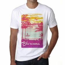 Blerouna Escape to paradise Hombre Camiseta Blanco Regalo 00281