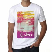 Gatteo Escape to paradise Hombre Camiseta Blanco Regalo 00281