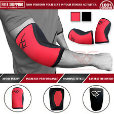 RAMPAGE Elbow Support 5mm Cross Fit Elbow Sleeve Neoprene Power Weight  Lifting