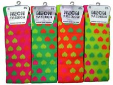 Ladies Girls Miss Phoebe Sexy Neon Candy Heart Design Over the Knee Socks 1pp