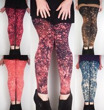 Hand Dyed Galaxy Leggings / Meggings Soft Stretch Yoga Pants New by Bare Canvas