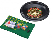 COMPLETO IN SCATOLA ROULETTE SET 6, 10 O 40.6cm INCLUSE FELTRO SET FICHES Sfere