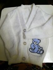 Teddy Knitted baby cardigan  (New) See description